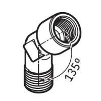 LAPA45 Angle Connector for SKF System 24 Lubricators