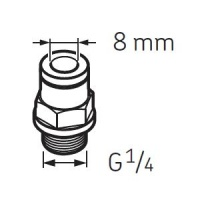 LAPF M1/4 Tube connection male G1/4 for SKF System 24 Lubricators