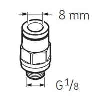 LAPF M1/8 Tube connection male G1/8 for SKF System 24 Lubricators