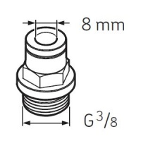 LAPF M3/8 Tube connection male G3/8 for SKF System 24 Lubricators
