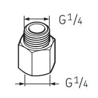 LAPN1/4 Nipple G1/4 - G1/4 for SKF System 24 Lubricators