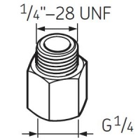 LAPN1/4UNF Nipple G1/4 - 1/4UNF for SKF System 24 to RHP Selflube