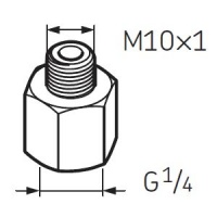 LAPN10X1 Nipple G1/4 - M10X1 for SKF System 24 Lubricators