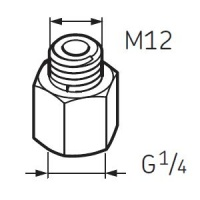 LAPN12 Nipple G1/4 - M12 for SKF System 24 Lubricators