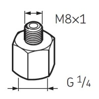 LAPN8X1 Nipple G1/4 - M8x1 for SKF System 24 Lubricators