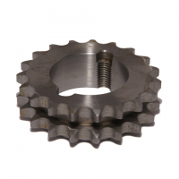 32-19 Sprocket - 3/8'' Pitch Duplex 19 Teeth - Taper Bush Ref 1008