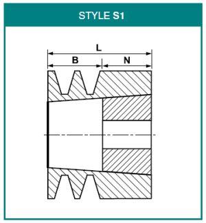 SPZ60X1 V Belt Pulley - SPZ Section 1 Groove Taper Bush 1108