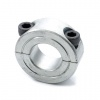 LC-1.1/8 Double Split Shaft Collar 1-1/8'' Zinc Plated Steel (1-1/8''x1-7/8''x1/2'')